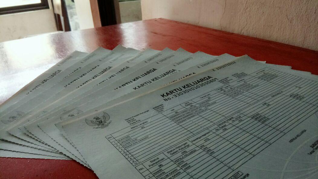 Daftar Kartu Keluarga yang Sudah Cetak dan Sudah Siap Diambil di Kecamatan