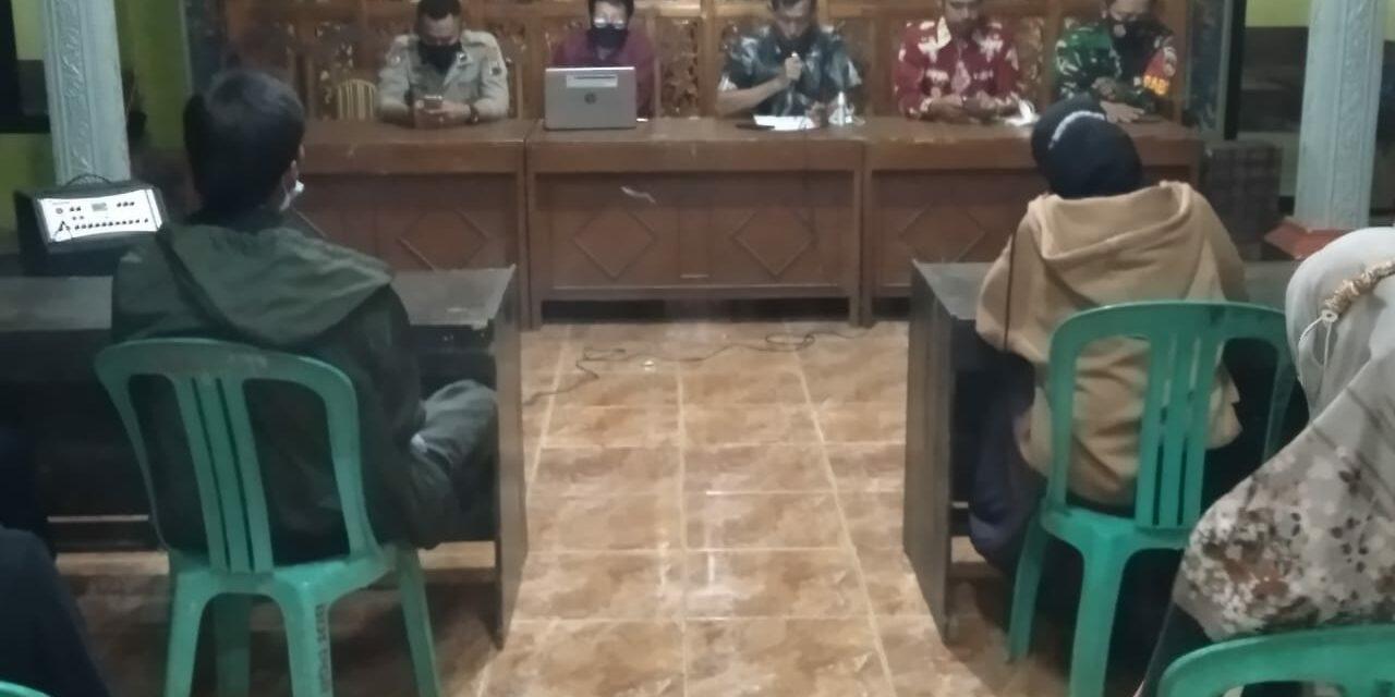 Kesepakatan Susunan Panitia Penjaringan dan Penyaringan Perangkat Desa Pagerandong Kec. Kaligondang